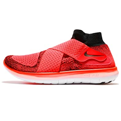 free shipping 5579e 6151b NIKE Men s Free RN Motion Flyknit 2017 Bright Crimson Black Hyper Orange  Nylon Running