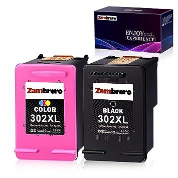 Zambrero Remanufacturado HP 302XL 302 XL Cartuchos de tinta Negro ...