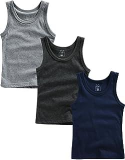 Feathers Boys Botany Print Set Tank 100/% Cotton Super Soft Tagless Undershirts 3-Pack