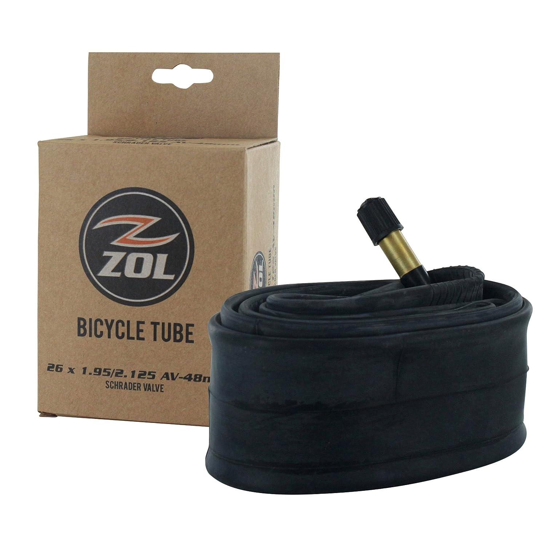 Zol(ゾル)マルチパック自転車標準タイヤチューブ バイク 26インチx1.95/2.125インチ 米式バルブ48mm B01N7OVVEN   100 pcs