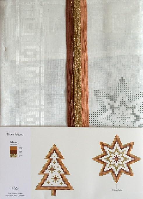 Stickpackung Tannenbaum UND Sterne, komplettes vorgezeichnetes ...