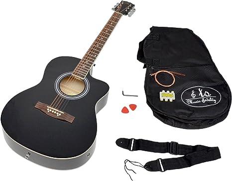 ts-ideen Western - Guitarra acústica electra, calidad estándar ...