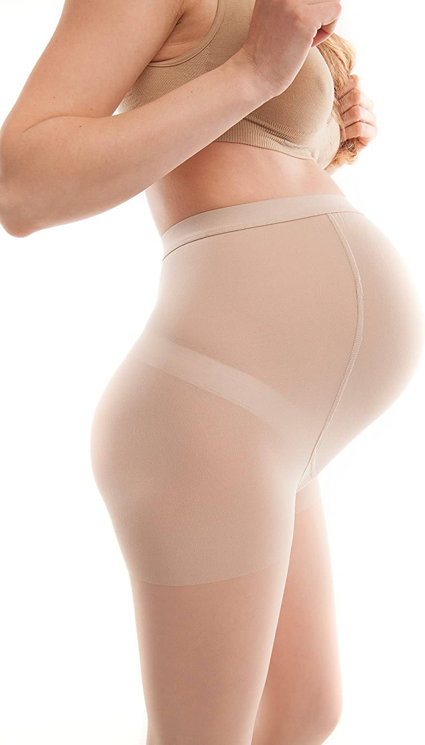 B000WFTBJY Gabrialla Graduated Compression Maternity Pantyhose, Sheer (18-20 mmHg) 71vw-HhgV5L