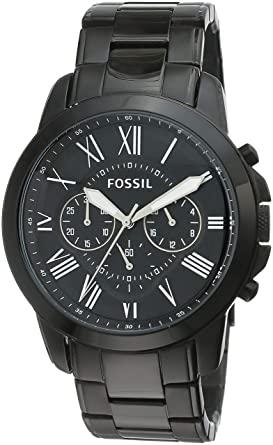Image Unavailable. Image not available for. Colour  Fossil Grant  Chronograph Analog Black Dial Men s Watch ... 00f0a94dd2