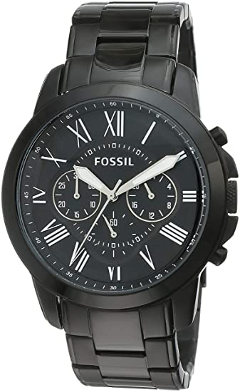 458dfd53c629 Buy Fossil Grant Chronograph Analog Black Dial Men s Watch - FS4832 Online  at Low Prices in India - Amazon.in