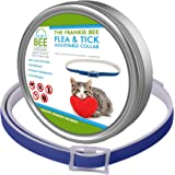 Waterproof Flea & Tick Collar For Cats, Kittens, Dogs & Pets By Frankie Bee Company | Powerful & Safe Ingredients For All Ages & Breeds | 8-Month, Unique & Protective Formula For Your Cat