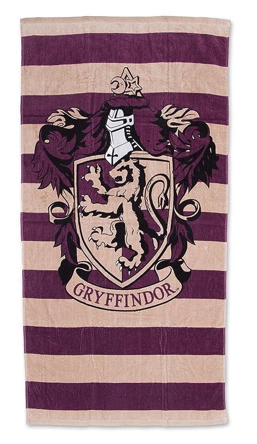 Muggles de Harry Potter Gryffindor baño toalla de playa, algodón, morado, 140 x