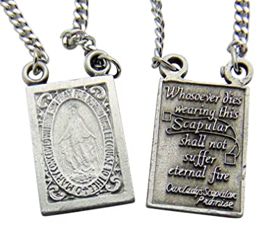 groupon necklace prayer deals stainless steel ca scapular gg