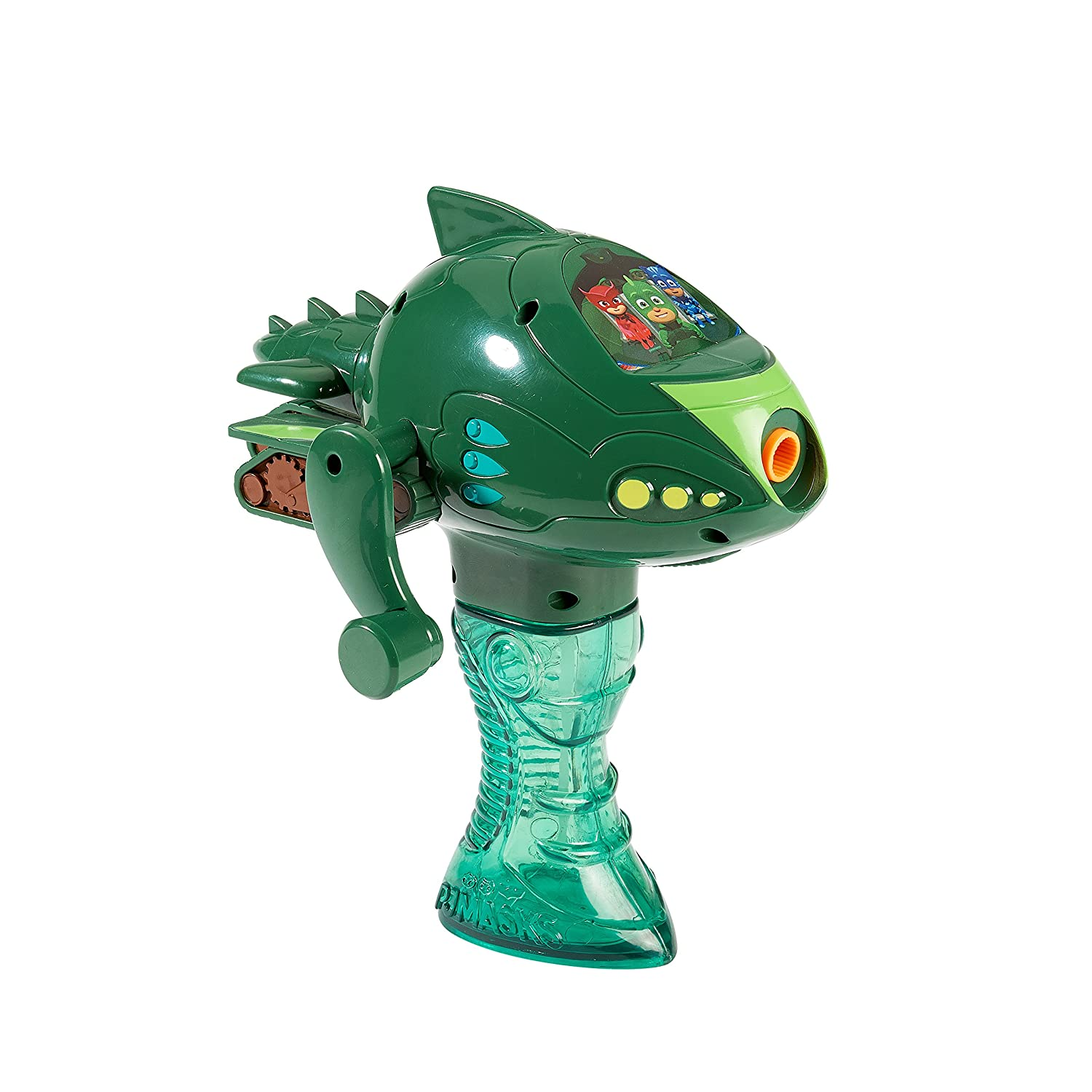 Little Kids PJ Masks Gekko Gekko Mobile Bubble Blower Vehicle with 4oz of Bubble Solution Toy Green