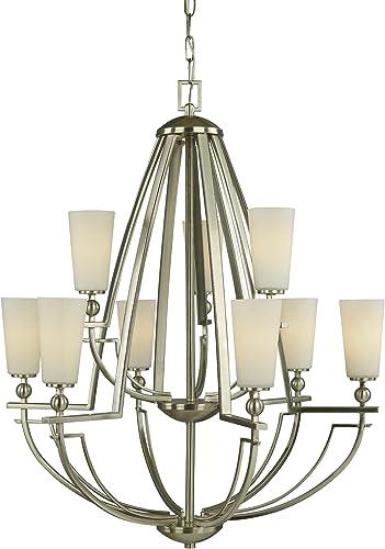 Woodbridge Lighting 12212-STN Aurora Chandelier, 28 x 34 , Satin Nickel