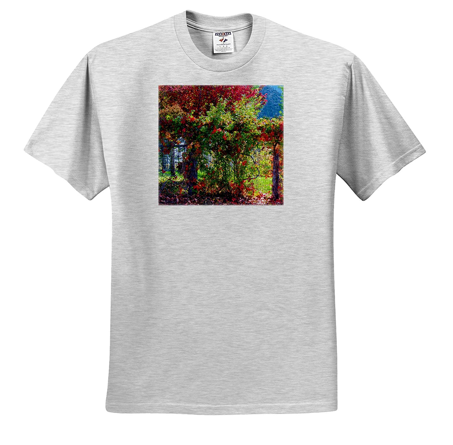 Red Vines and Tree T-Shirts Red and Green Vines in Fall on a Tree and Plants 3dRose Jos Fauxtographee