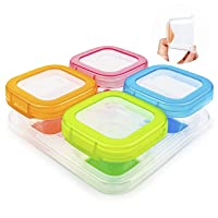 Deals on AAMUEE Baby Food Storage, 4 Pcs 4 oz