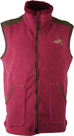 Mens Country Fleece Gilet Pull Over Shooting Hunting Zip Jacket Body Warmer New