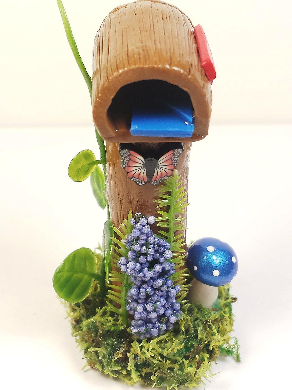 Amazon Com Miniature Mailbox Fairy Garden Accessories Dollhouse  # Terrarium Dangle