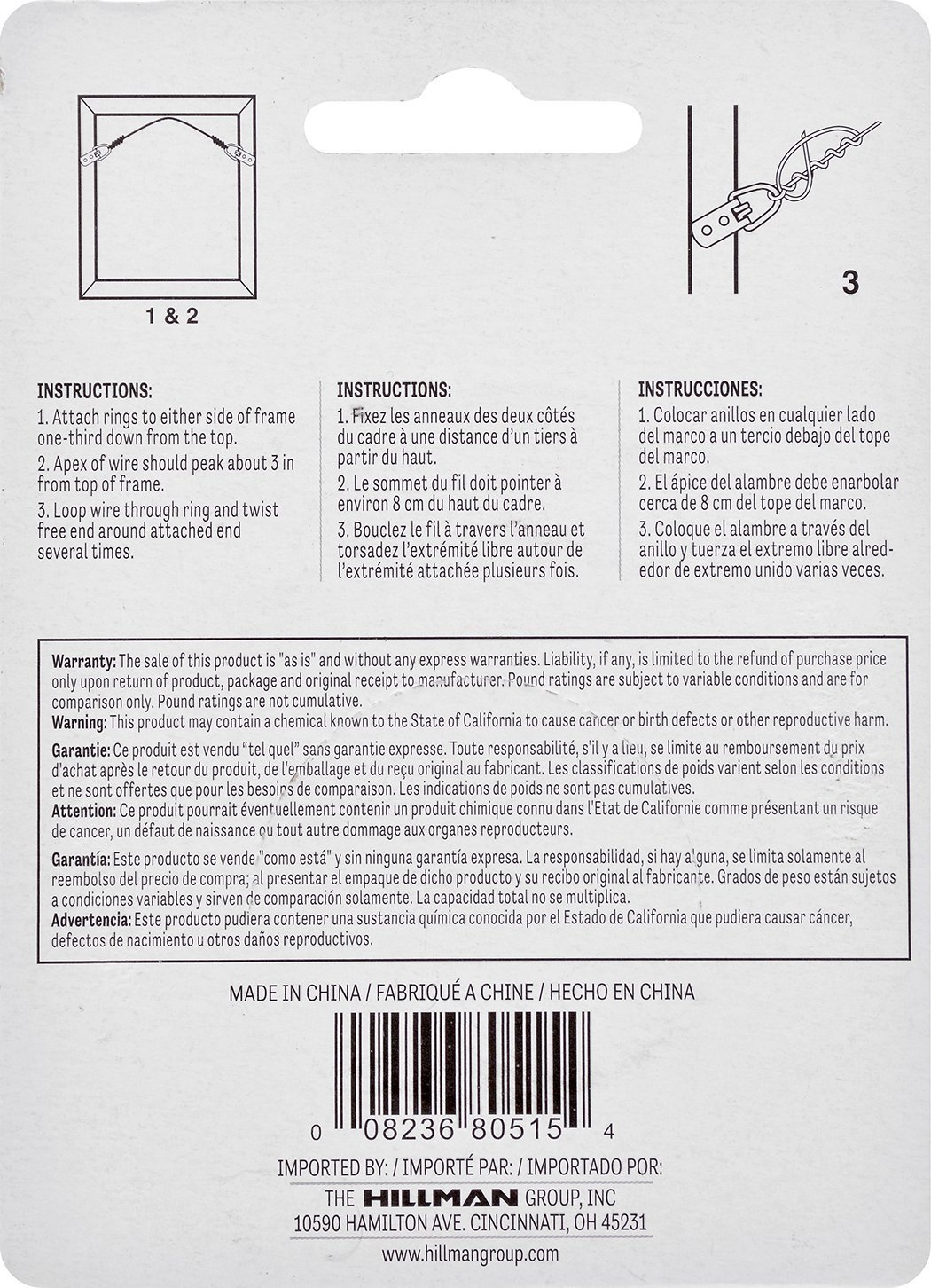 Amazon.com: The Hillman Group 121110 Picture Hanging Wire (3 Pack ...