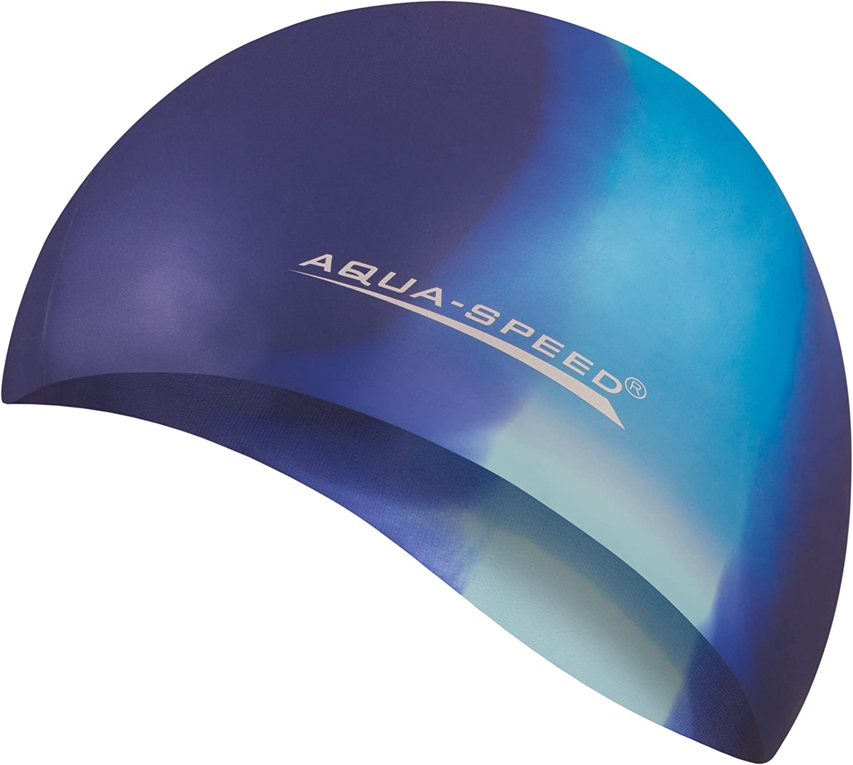Aqua Speed BUNT Badekappe Bunt // 76 Silikon Badem/ütze Badehaube
