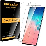 [3 Pack] UniqueMe Screen Protector for Samsung Galaxy S10 Lite/Samsung Galaxy A81/A91 Tempered Glass, 9H Hardness Bubble…