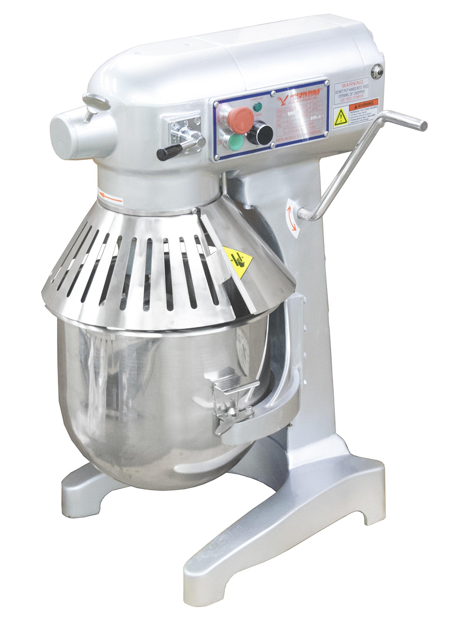 American Eagle Food Machinery AE-20NA 20 Quart 1.5HP Commercial Planetary Mixer w/#12 Hub ETL/NSF/CE 115V/60Hz/1Ph