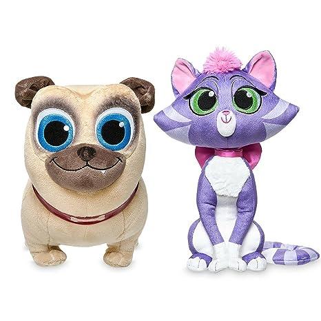Amazon Com Disney Rolly Plush And Disney Hissy Plush Puppy Dog