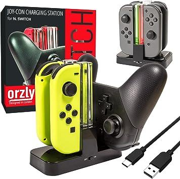 Orzly Switch Pro Controller Dock, Multi Estación de Carga [Luces ...