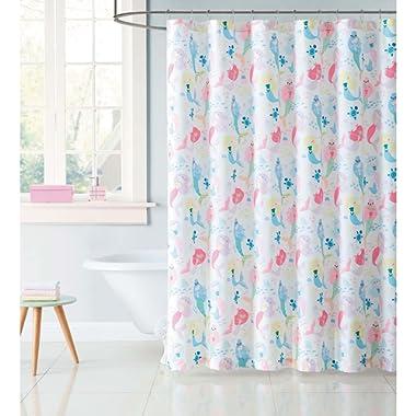 Laura Hart Kids Shower Curtain, Mermaids