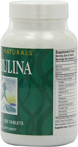 Source Naturals Spirulina – For Immune System Support – 200 Tablets