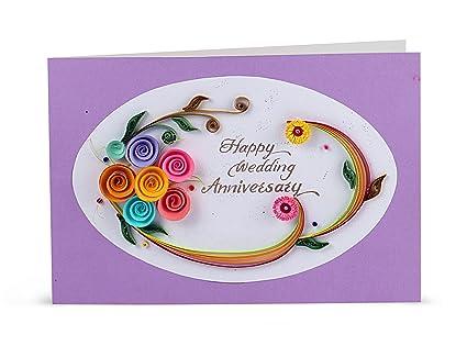 Handcrafted emotions handmade wedding anniversary greeting card