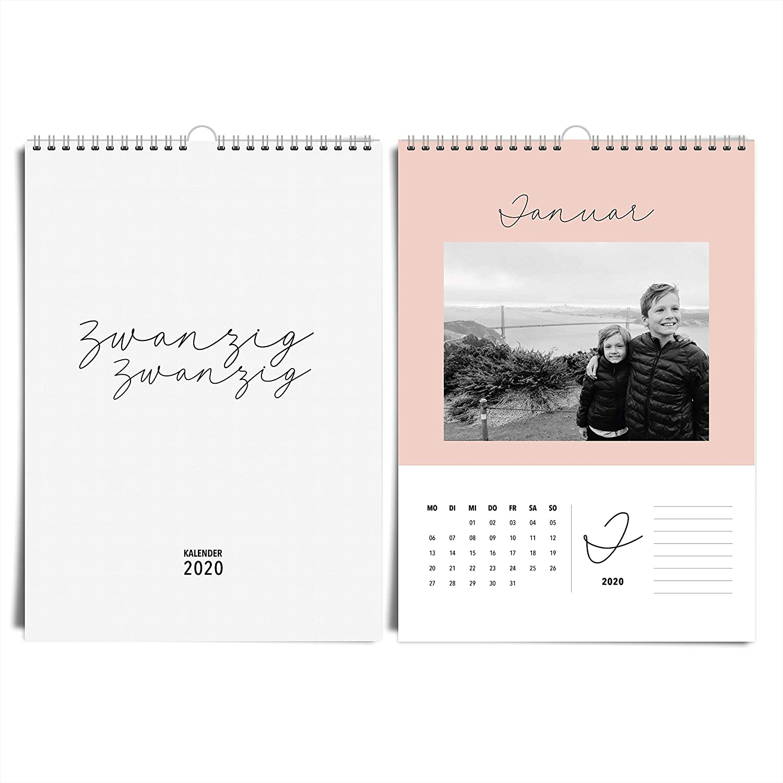 im edlen /& zeitlosen Design Fotokalender in erdigen Farben basteln /& verschenken Edler DIN A4 Jahreskalender f/ür 2020 von heaven+paper/® Ideal zum selbst gestalten