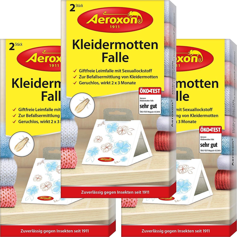 AEROXON Trampa para polillas de ropa Paquete de 3