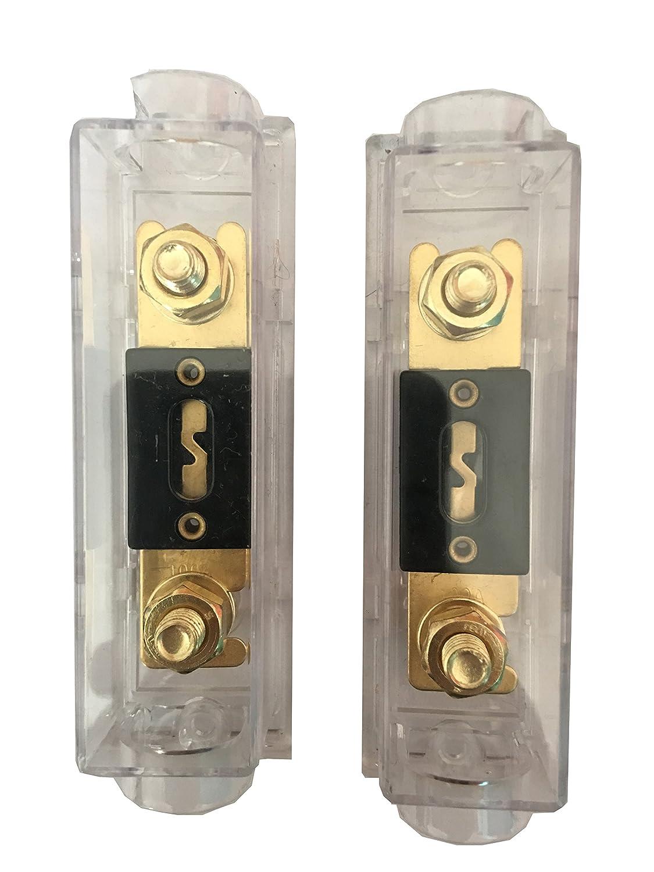 ANL Sicherungshalter 1 St/ück KOLACEN ANL Vergoldete Sicherung 100 Amp