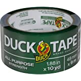 Duck Brand 761288 All-Purpose Duct Tape, 1.88 Inches by 10 Yards, Silver, Single Roll