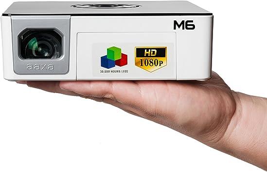 Pico/Micro Proyector AAXA M6 1080p LED, batería de 90 Minutos ...