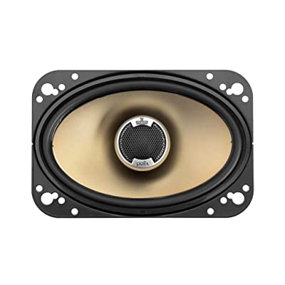 Polk Audio DB461 4-by-6-Inch Coaxial Speakers (Pair, Black): Car Electronics