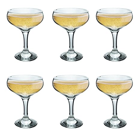 cb5c3f94c098 Image Unavailable. Image not available for. Color  Rink Drink Champagne  Glasses Vintage Coupe Glass Saucer ...