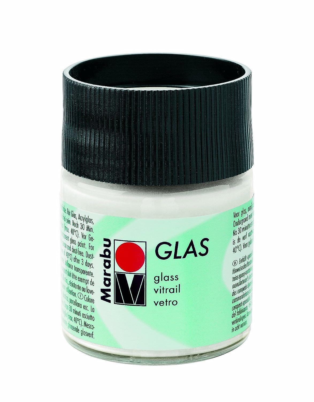 Marabu 070 50 ml Glas Paint, White Marabu GmbH & Co. KG MR130605070