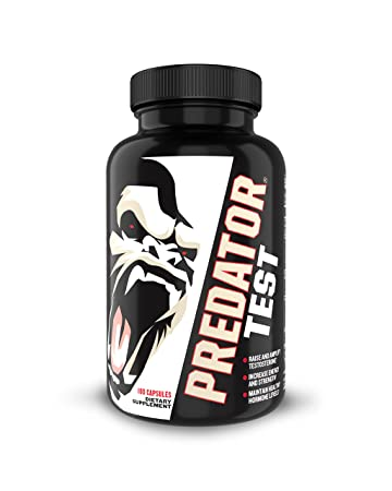 Predator TEST: Best Natural Testosterone Booster Supplement for Men with  Nitric Oxide