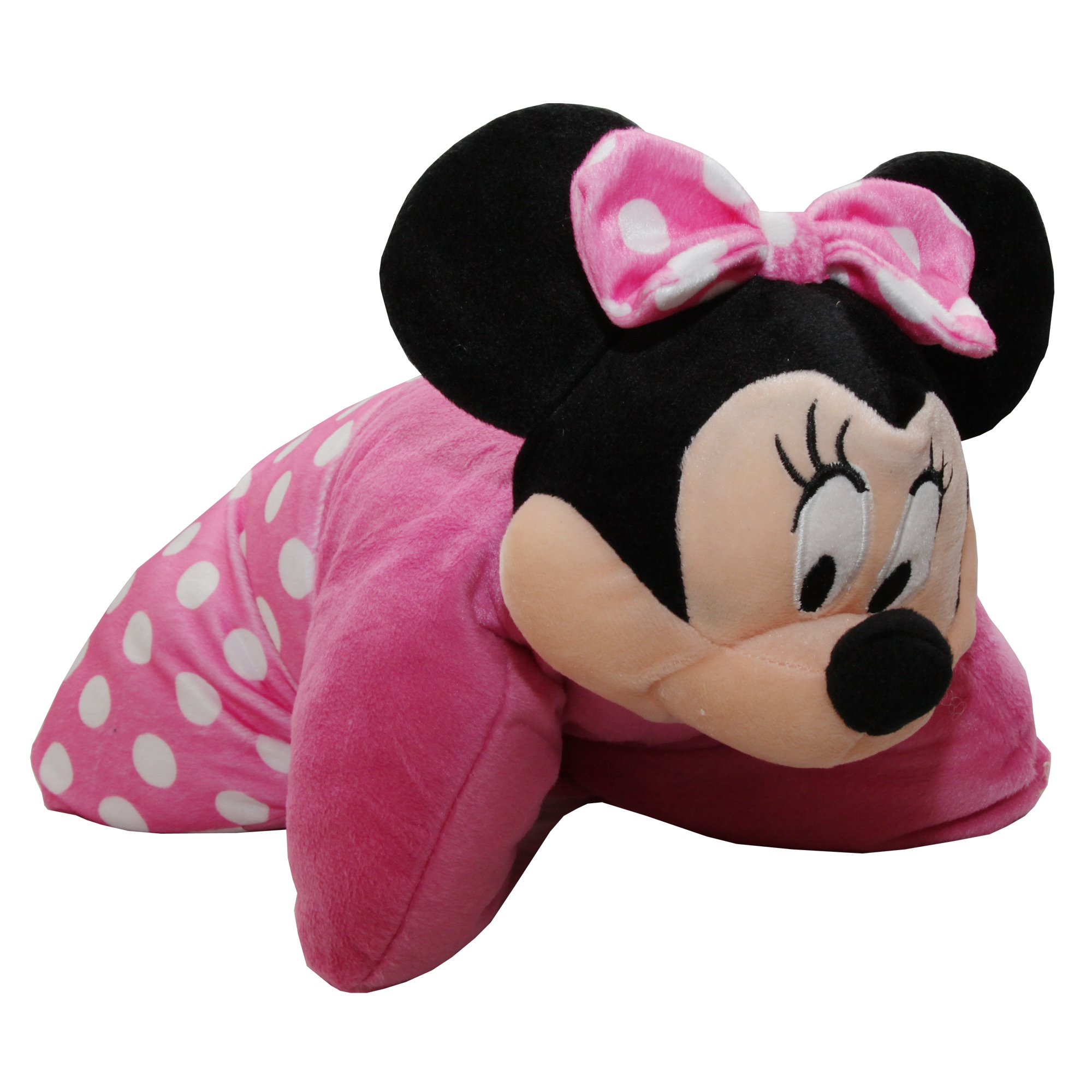 Disney Childrens Minnie Mouse 3D Pillow With Face (15in x 15in) (Pink)