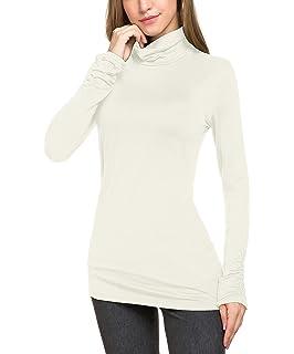 f4d170df4a Le Vonfort Women s Casual Slim Fit Long Sleeve Turtleneck Pullover Tops