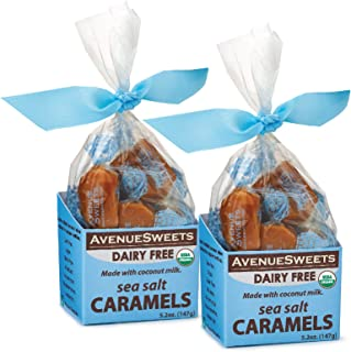 product image for AvenueSweets - Handcrafted Dairy Free Vegan Individually Wrapped Soft Caramels - 2 x 5.2 oz Boxes - Sea Salt