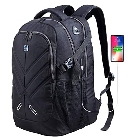 5070dc275 Backpack for Men and Women Fit 17 Inches All 15.6 Inches Laptops Waterproof  Shockproof OUTJOY School Bag Travel Laptop Backpack Book Bag Business Work  ...