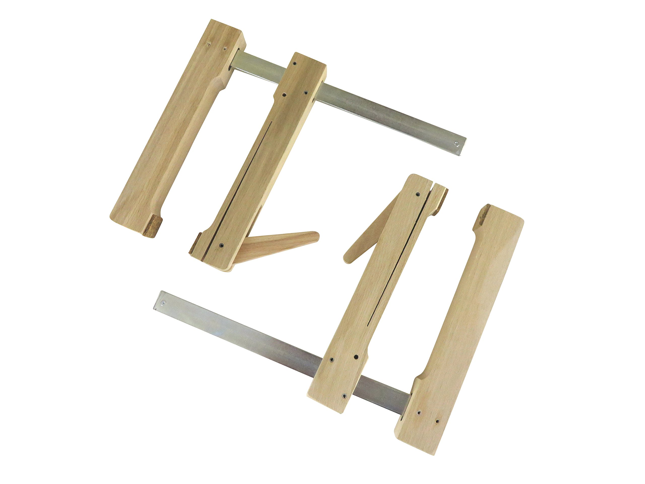 "2 each Pair Taytools 31-200 Wooden Wood Cam Action Clamps Deep Reach 7-1/2"" Opening by 7-1/2"" Depth European Beech"
