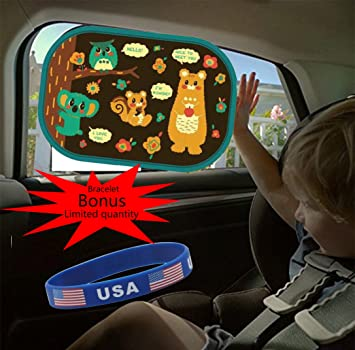 757974c772b Pack of 2 Baby Car Window Sunshade - Auto Static Cling Sun shades Protector  to Block