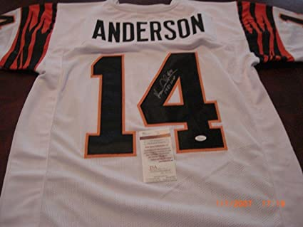 Image Unavailable. Image not available for. Color  Signed Ken Anderson  Jersey - 1981 Mvp Cincinnatti White coa - JSA Certified - Autographed NFL 865e11af9