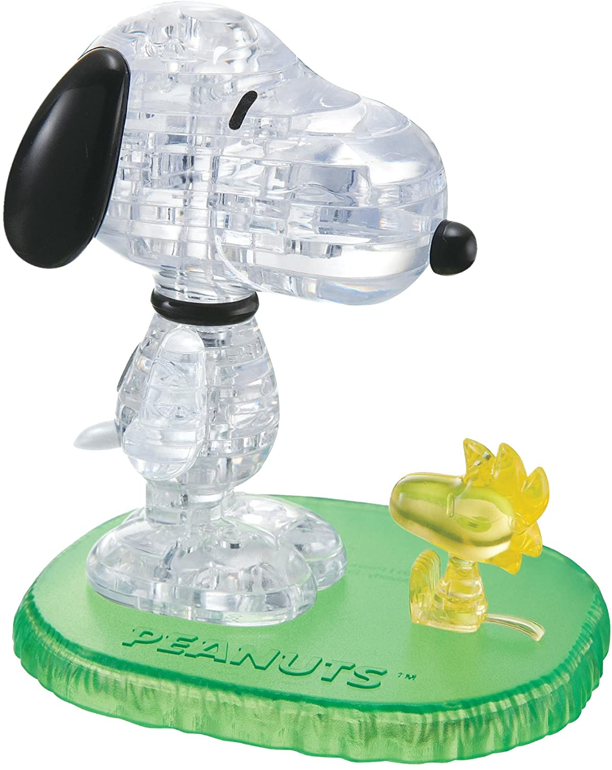 B00AK0M6DO BePuzzled Original 3D Crystal Jigsaw Puzzle - Snoopy & Woodstock Assembly Brain Teaser, Fun Yet Challenging Peanuts Model Toy Gift Decoration for Adults & Kids Age 12 & Up, 41Piece (Level 1) 818Vt7LJqGL