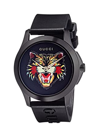 37c3f6e5e9f Amazon.com  Gucci Timeless unisex watch 38mm YA1264021  Watches