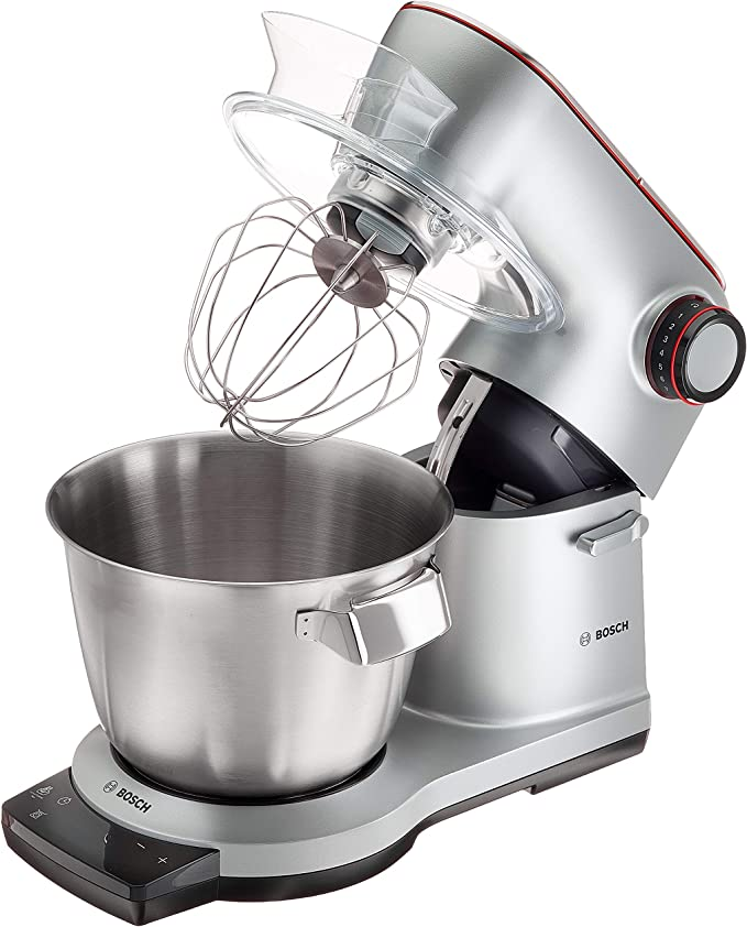 Bosch MUM9BX5S61 1500W 5.5L Acero inoxidable - Robot de cocina (5,5 L, Acero inoxidable, Giratorio, 1,5 L, Metal, Metal): Amazon.es: Hogar
