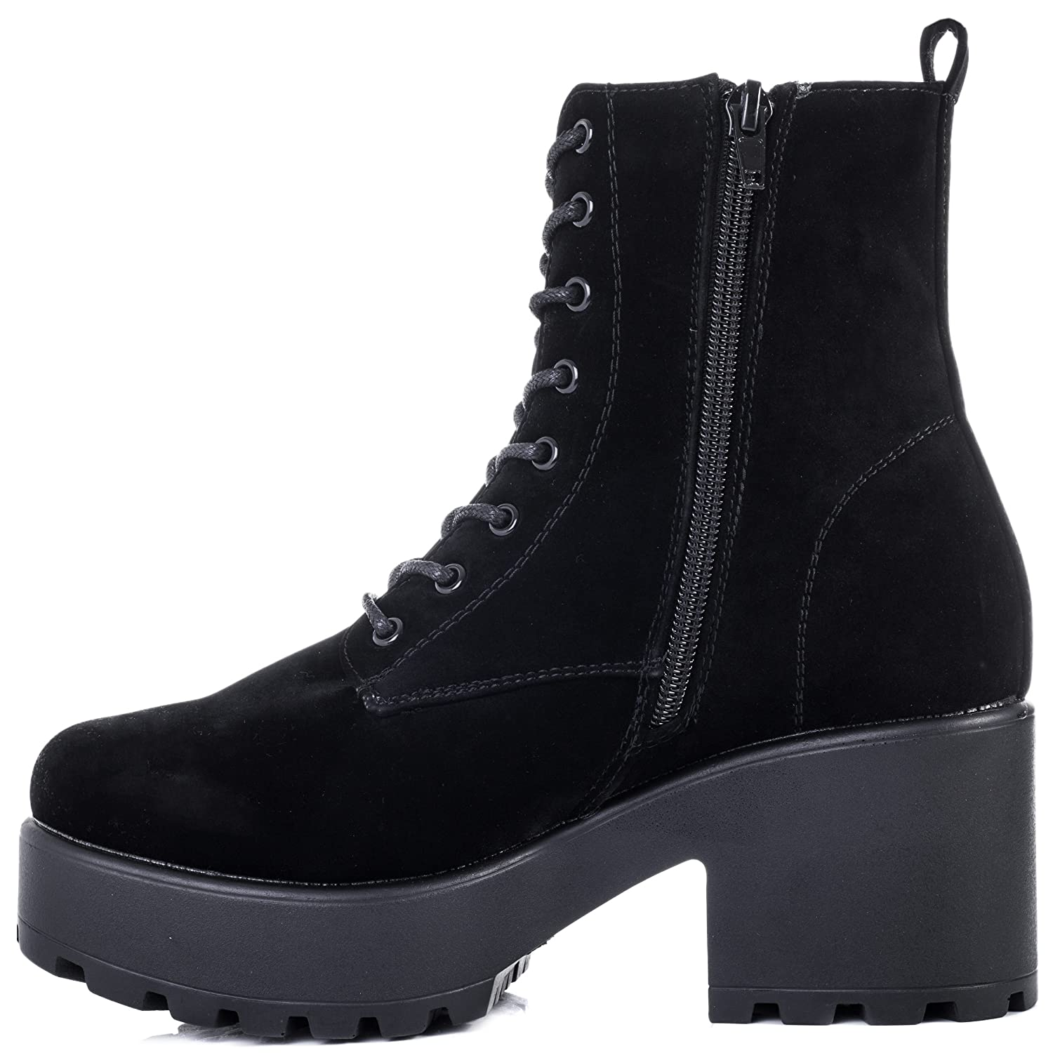 618cde59c592 SPYLOVEBUY SHOTGUN Women s Lace Up Cleated Sole Platform Block Heel Ankle  Boots Pumps  Amazon.ca  Sports   Outdoors