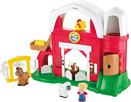 Amazon Com Fisher Price Little People Fun Sounds Farm Toys Games