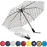Eono by Amazon - Paraguas Plegable Automático Impermeable, Paraguas de Viaje a Prueba de Viento, Folding Umbrella…