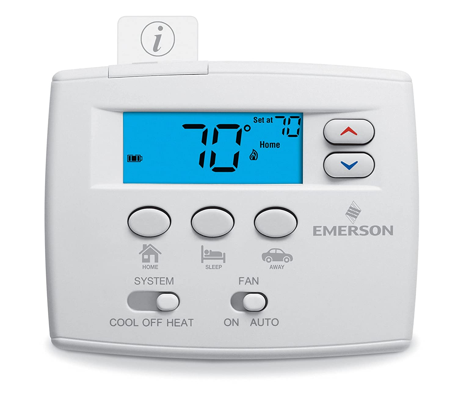 Emerson 1F86EZ-0251 Non-Programmable Thermostat - Programmable Household  Thermostats - Amazon.com
